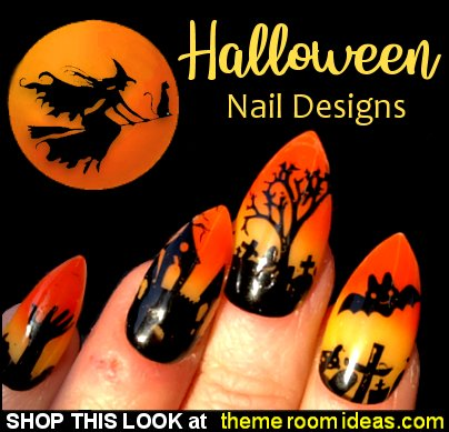 Halloween Party Nails Ghost in The Graveyard Halloween Scary Cute Nails Halloween