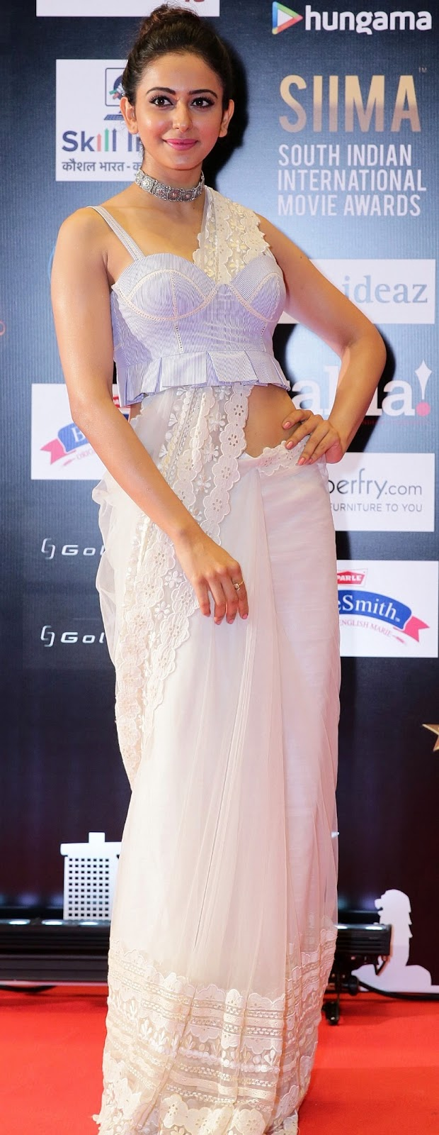 Rakul Preet Photos In White Dress At SIIMA Awards