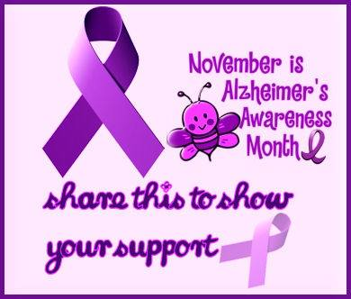 November is Alzheimer's Awareness Month. Share this to show your support.