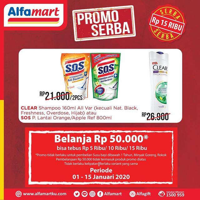 #Alfamart - #Promo Serba Hemat Mulai 5K - 15 K (s.d 15 Jan 2020)