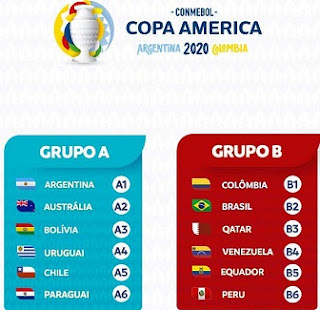 2020 Copa America tournament will take place in Colombia and Argentina from 12 June to 12 July 2020.