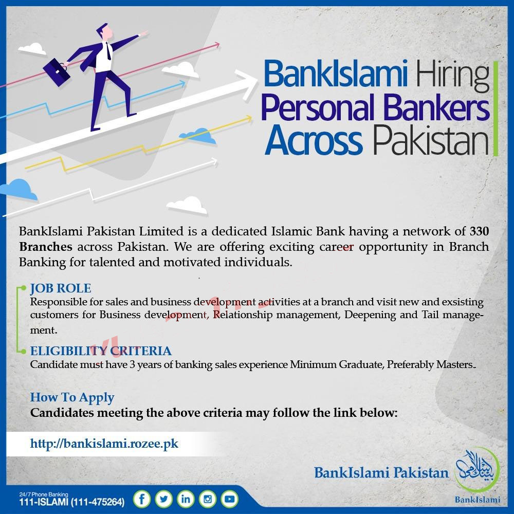 Latest Jobs Bank Islami Pakistan Limited June 2019 for Personal Bankers Across Pakistan Apply Online