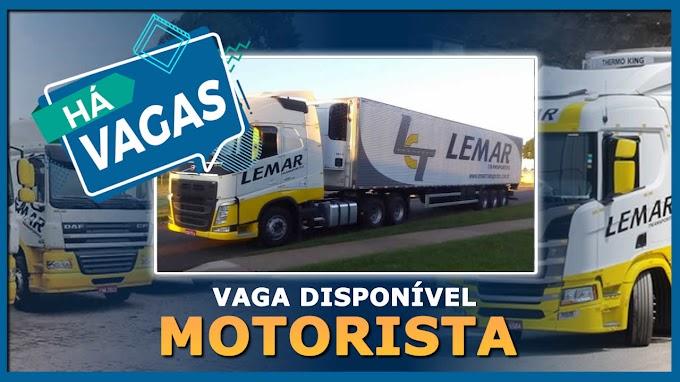Transportadora Lemar abre vagas para motorista carreteiro