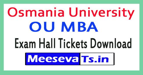 Osmania University OU MBA Exam Hall Tickets Download 2018