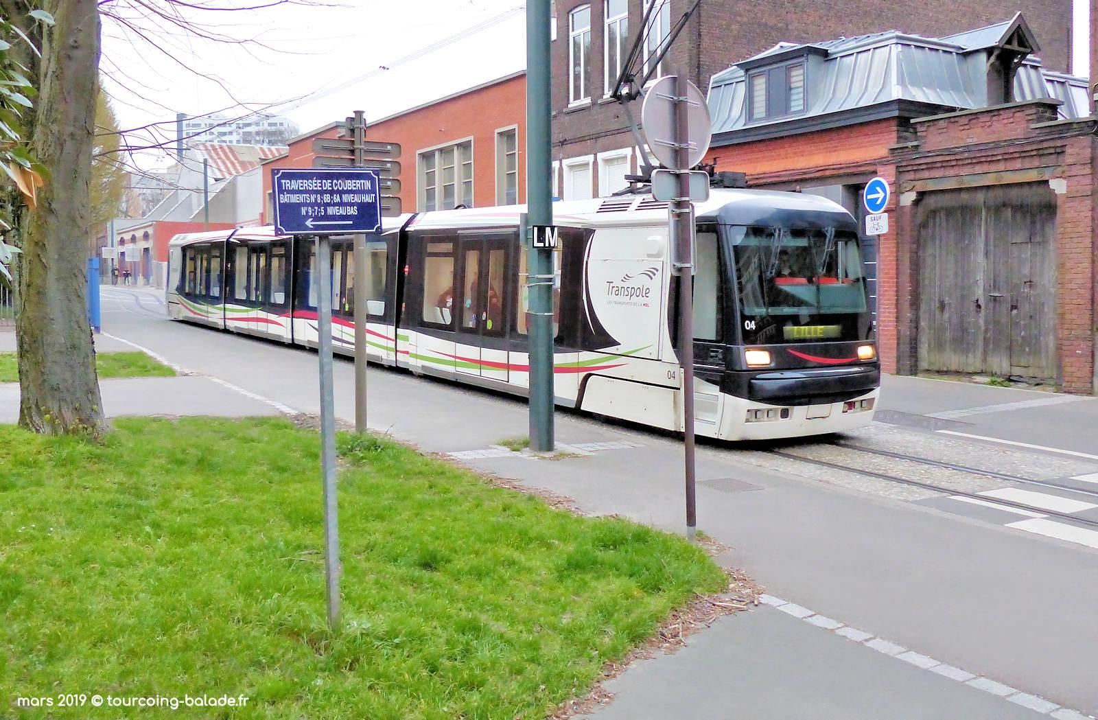 Rue Chanzy, Traverse Coubertin et Tramway - Tourcoing