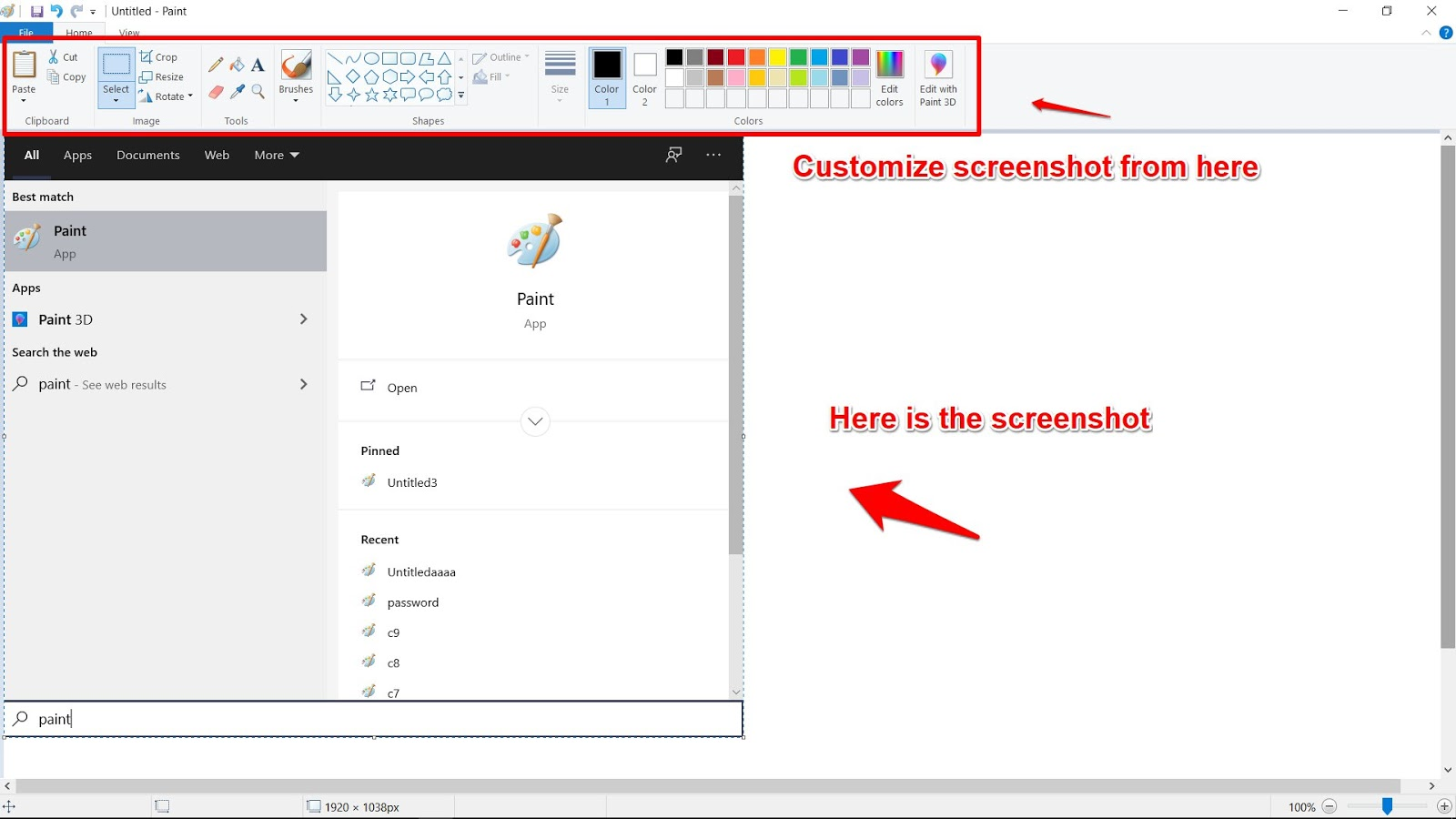 How to take Screenshot on Laptop