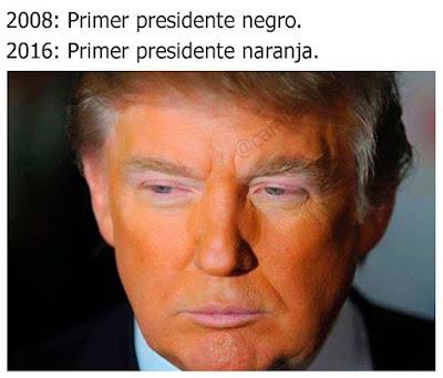 Meme de Humor : Donald Trump el primer presidente naranja de la historia