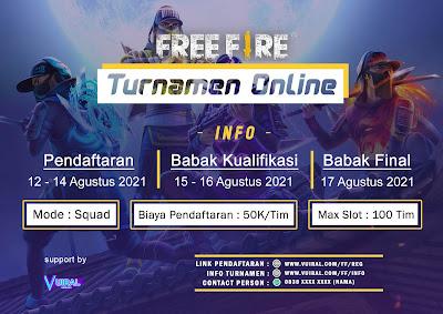 Download Mentahan Contoh Poster Turnamen Free Fire (FF)
