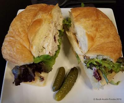 Velouria chicken salad sandwich