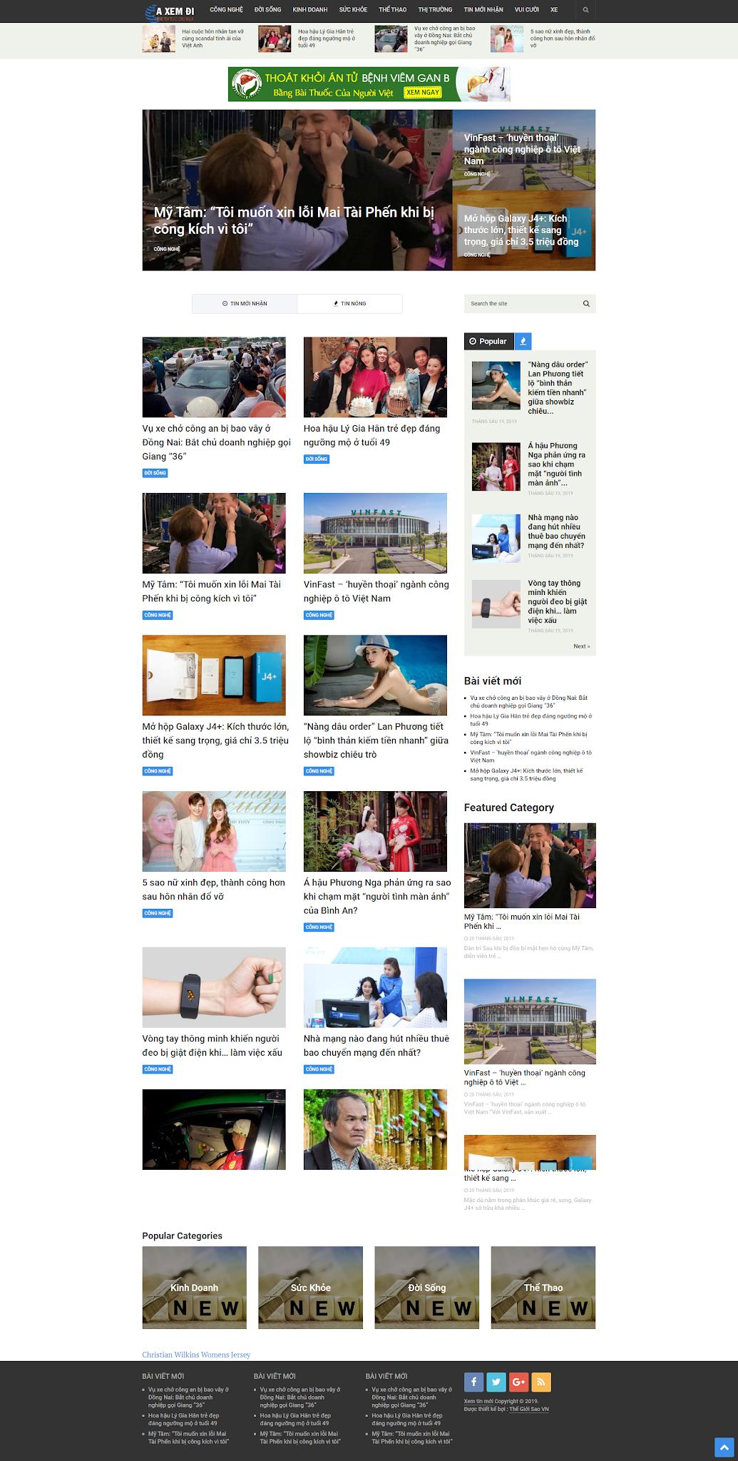 Mẫu web tin tức 010