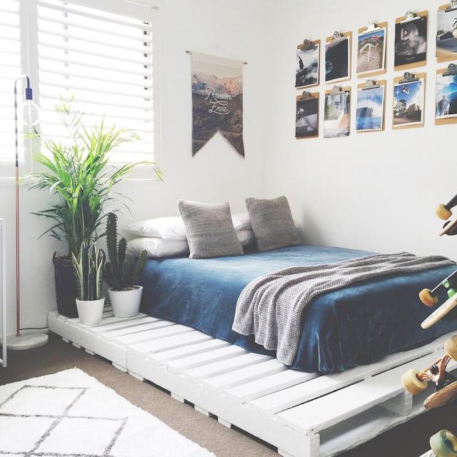 bày trí phòng ngủ bằng cây xanh