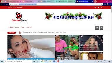 OBSERVANDO FAMOSOS - A CADA PASSO UM CLIQUE ( BLOG )