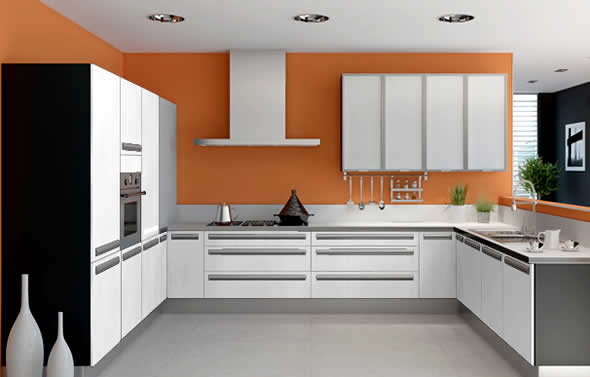 Modern kitchen interior design model home interiors for Kichan farnichar dizain