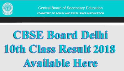 CBSE 10th Class Result 2018