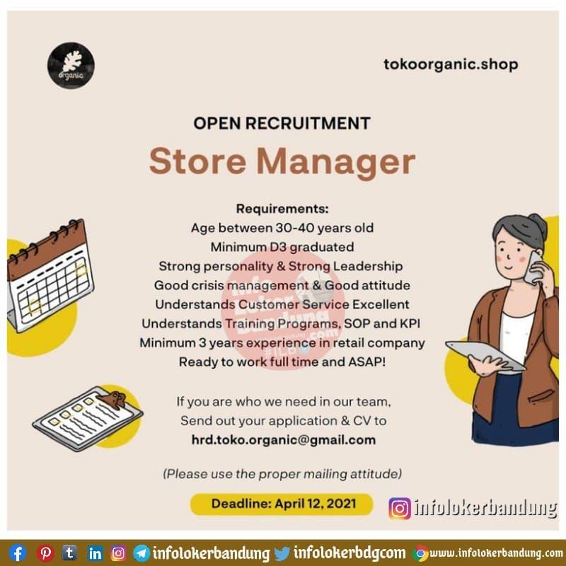 Lowongan Kerja Toko Organic Shop Bandung April 2021 ...