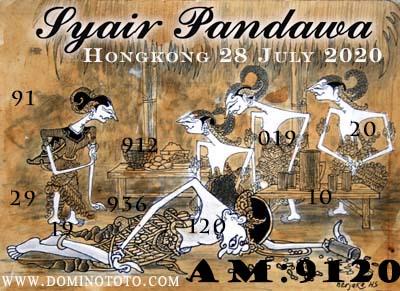 syair hk pandawa 28 juli 2020