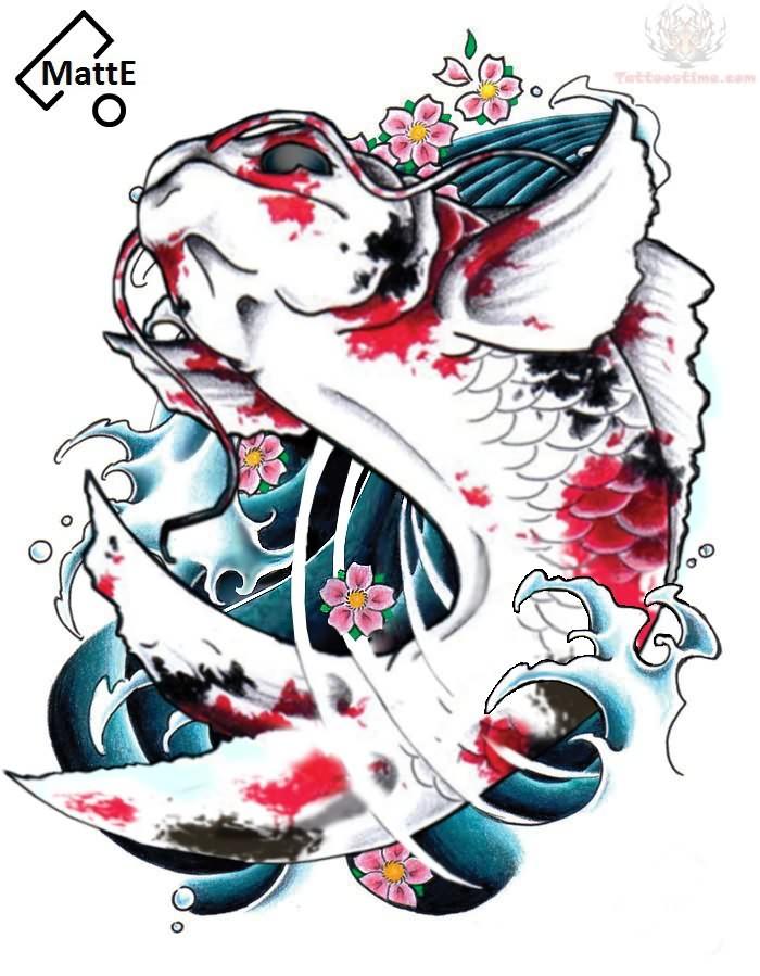 Koi Fish Tattoo Designs On Chest: Koi Fish Tattoo Photos 03