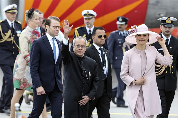 King Carl Gustaf and Queen Silvia, Crown Princess Victoria and Prince Daniel, Sofia Hellqvist and Prince Carl Philip,