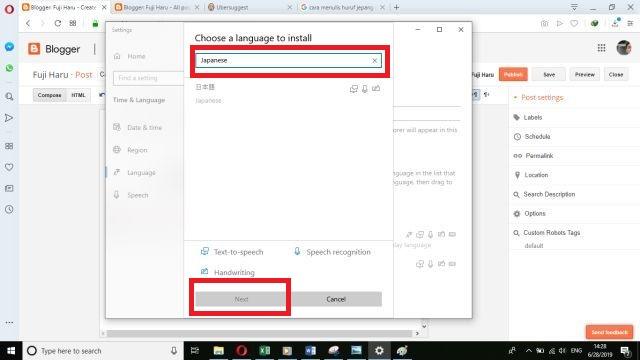 Cara Menulis Huruf Jepang di Windows 10