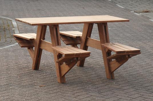 Picnic Bench Kitchen Table