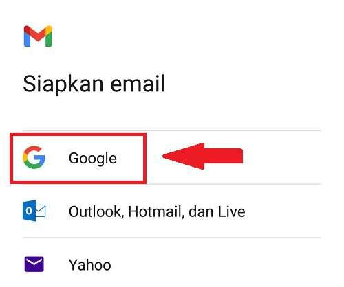 menambahkan akun Google