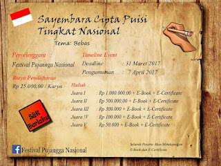 Lomba Menulis Puisi Hadiah Jutaan - Festival Pujangga Nasional