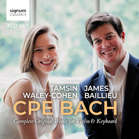 Tamsin Waley-Cohen & James Baillieu - CPE Bach - Signum Classics