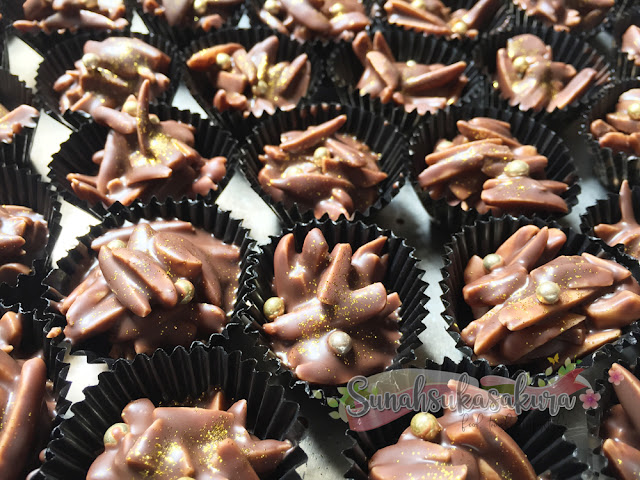 resepi chocolate almond cluster