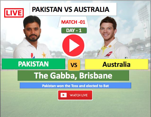 Watch Live match Australia vs Pakistan- 1st TEST match , Pakistan Tour of Australia 2019