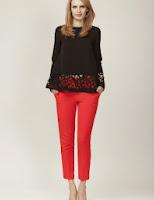 Pantaloni rosii conici (Moja)