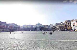 Piazza del Plebiscito is a large public square in central of Naples Italy