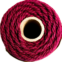 cotton cord maroon burgundy red wine