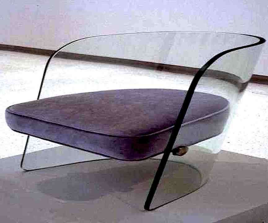 acrylic and purple chair