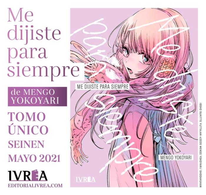 Me dijiste para siempre (Isshou Suki tte Yutta jan) manga - Mengo Yokoyari - Ivrea