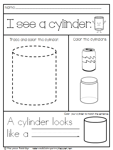 KINDERGARTEN SHAPES FOR WORKSHEETS