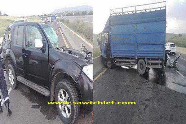 مصرع شخص وإصابة آخر في حادث مرور بالطريق السيار