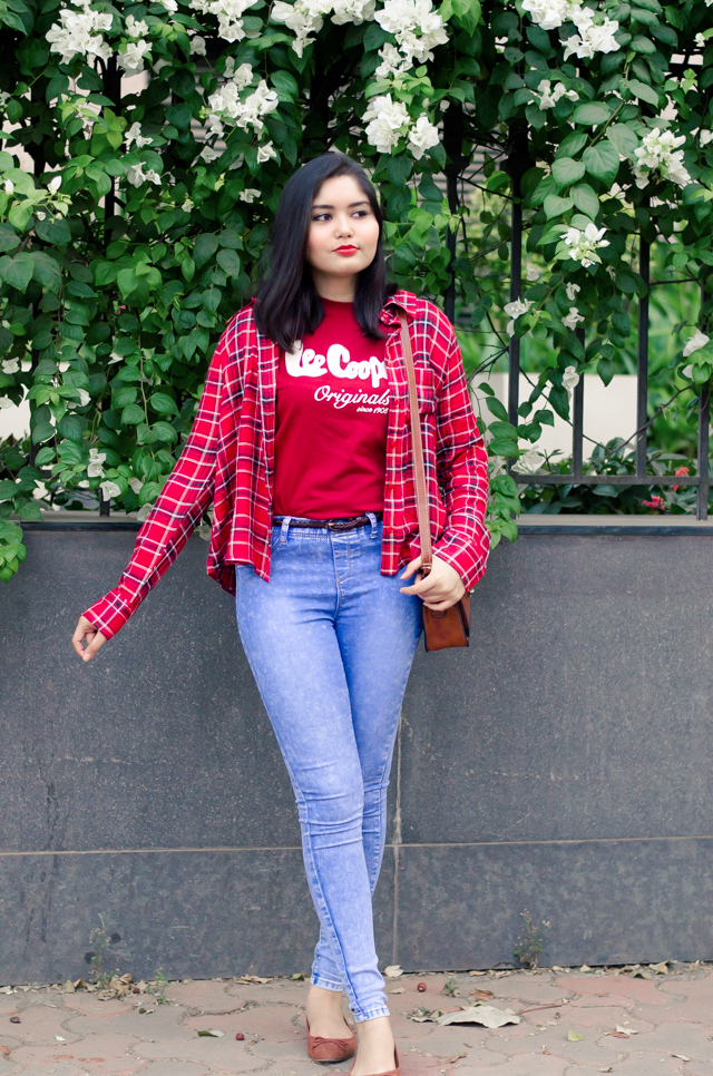Plaid Shirt, Graphic Tshirt Spring Outfit