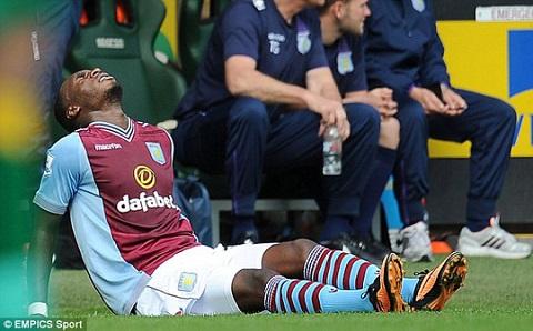Benteke bị chấn thương