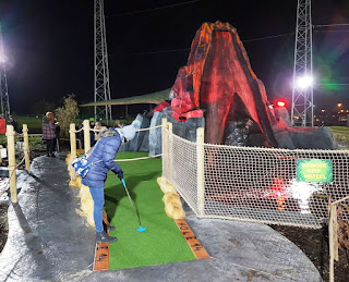Dino Falls Adventure Golf Volcano course at the Trafford Golf Centre