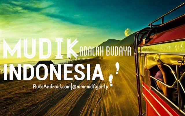 Mudik Adalah Budaya Indonesia