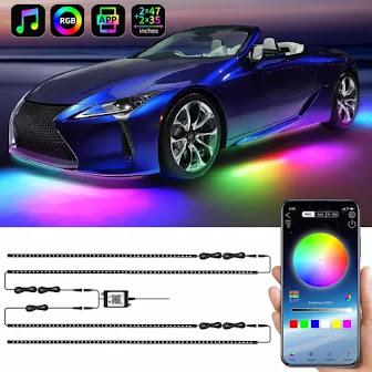 Kit Neon Iluminação Rgd Para Seu Carro