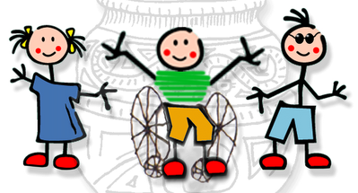 Resultado de imagem para crianças com deficiência desenho