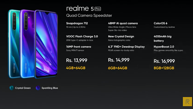 Realme 5 series launched in India at Rs. 9,999
