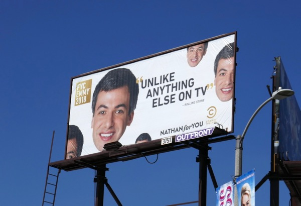 Nathan For You season 4 Emmy FYC billboard