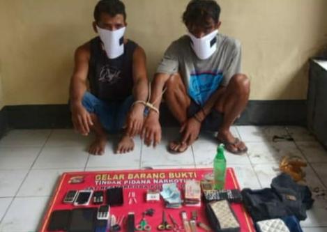 Kapok! Hendak Transaksi Narkoba, 'La Jelo' dan Temannya, Diringkus Polisi Di Nusa Jaya Manggelewa