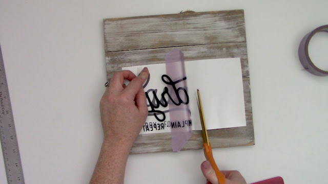 hinge method, wood signs, transfer tape, oracal 651, cameo 4, cameo 3
