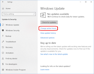 Mengenal Active Hours di Windows 10 - Seloki