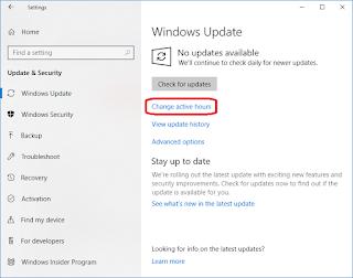 Mengenal Active Hours di Windows 10 - Seloki