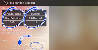 Cara Menyimpan Video dari KineMaster ke Galeri Hp