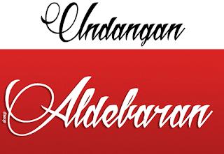 Download 40+ Font Latin Keren Untuk Desain Undangan Pernikahan, Aldebaran
